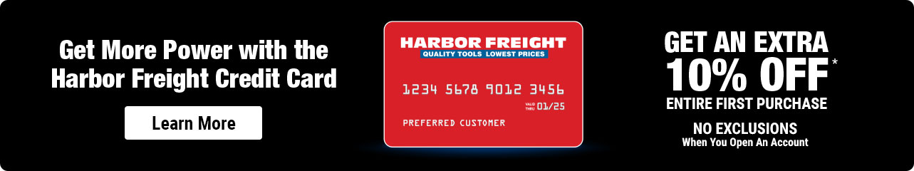 Get More Power with the Harbor Freight Credit Card