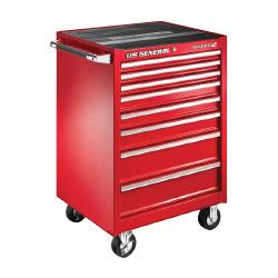 U.S. General 26 in. X 22 in. Single Bank Roller Cabinet, Red