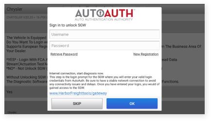 AutoAuth.com Login Page