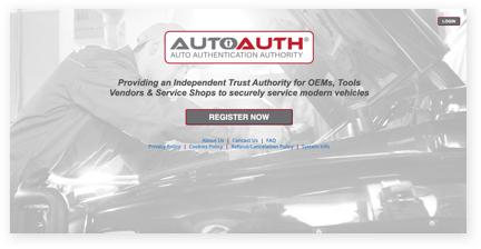 Register Shop account with AutoAuth.com